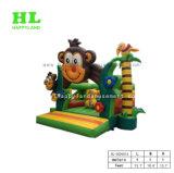 Puente inflable del uso del castillo animoso inflable casero de la gorila para los cabritos
