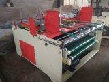 Carpeta semiautomática del rectángulo del cartón que pega la máquina