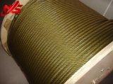 약간을%s 가진 직류 전기를 통한 철강선 밧줄 6X37 황금 윤활제 1770MPa