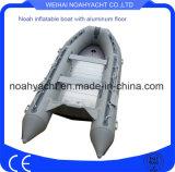 De Opblaasbare Boten van de Vloer van het Aluminium van Hypalon van de orka voor Redding met BuitenboordMotor