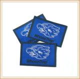 Etiqueta tecida da extremidade do vestuário da alta qualidade dobra acessória direta
