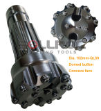 Hinunter das Tasten-Bit des Loch-Ql60-152mm DTH für Hammer Ql60