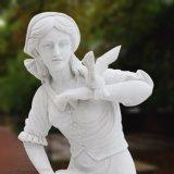 Natuurlijk Marmeren Uithollend Vrouwelijk Standbeeld voor Ornament t-6451 van de Tuin