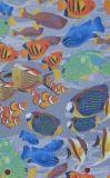 600D Oxford poisson tissu de polyester d'impression avec le PVC