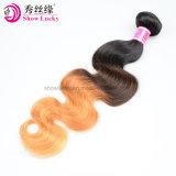De nieuwe Producten van het Haar In het groot Goedkope Maagdelijke Remy Ruwe Ombre Drie het Menselijke Haar van Indain van de Toon