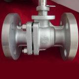 Válvula de esfera industrial flangeada de alta temperatura