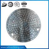 Grand dos de moulage de fer de fonderie de la Chine/triangle malléable faite sur commande/couverture de trou d'homme ronde