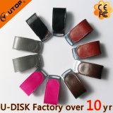 方法カスタムロゴの金属の革USBのフラッシュ駆動機構2/4/8/16/32/64GB