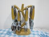jeu de couverts de dîner de l'acier inoxydable 24PCS avec le numéro en bois CT24-B04 de traitement
