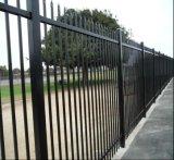 Сваренная стальная загородка пикетчика/загородка ковки чугуна копья верхняя