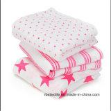昇進の卸し売り赤ん坊の綿モスリンの綿は毛布を包む