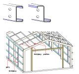 직류 전기를 통한 강철 지붕 & 벽 도리