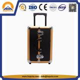 금 & 까만 알루미늄 트롤리 장식용 메이크업 케이스 (HB-3332)