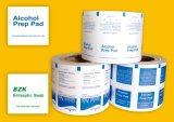 L'alcool Prep Pad à l'emballage fleuret, alu/PE/Papier, certificat de la FDA