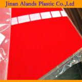 2017 Meilleur vendre rouge acrylique couleur feuille de plastique moulé