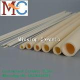 99.7% Tubulação cerâmica resistente ao calor da alumina Al2O3