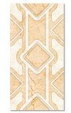El diseño de la hoja de cerámica adorna el azulejo 300*600 de la pared
