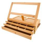 Bom 3 gaveta com caixa de armazenamento de madeira com portabilidade Ajustável Cavalete Artista Madeira Caixa de ferramentas