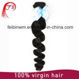 100%未加工人間のRemyの毛の拡張ブラジルのバージンの自然なRemyの毛は波を緩める