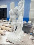 Weiße Marmorskulptur-Hand geschnitzte Statue (SY-MS125)