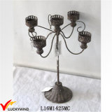 Shabby Chic Antique Black Decorative Organ Candelabras