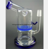 5.5 Zoll-Glasrohr-blaue Bienenwabe-Filter-Glas-Pfeife