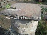 시멘트 자연적인 녹스는 슬레이트에 의하여 경작되는 돌 기둥 및 모자