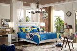 Фошань современной итальянской мебелью из дома с одной спальней кожаные мягкие кровати Jbl2007