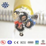 Câble en caoutchouc de 5 de faisceau du câble d'alimentation 16mm de mine de houille de câble de mine câbles électriques de grue mobile