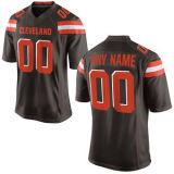 Кливленд игры белого цвета черный оранжевый цвет команды Football футболках NIKEID