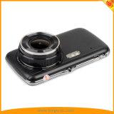 二重レンズのカメラが付いている4inch FHD1080p車のダッシュのカメラ