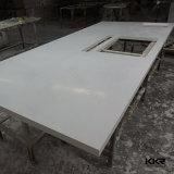 Engenharia Prefab artificial de pedra a pedra de quartzo na ilha de cozinha bancada