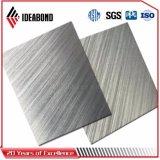 Comitato di parete composito di plastica di alluminio spazzolato di superficie anodizzato