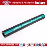 SAE 100 R2 sur le fil tressé en acier renforcé flexible en caoutchouc hydraulique