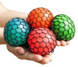 La sfera Squishy dell'uva di compressione della sfera della maglia variopinta allevia la sfera Squishy della novità di pressione