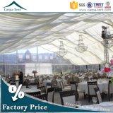 PVC de alumínio de luxe 25m do frame pela barraca do partido da abóbada de 50m para o casamento