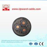 Câble électrique du conducteur 3*400 de cuivre à haute tension