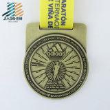 Jiabo ha tagliato gli sport a stampo tagliente su ordinazione del metallo di maratona che eseguono il medaglione
