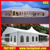 15X30mアルミニウムPVC最も高いピークの組合せの結婚披露宴の玄関ひさしのテント