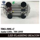 Zwei Reihen bernsteinfarbiges MiniLightbar mit TIR-Objektiv Alumium Karosserie (TBG-509L-C)