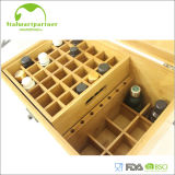 Caixa de armazenamento decorativa de bambu do petróleo com tampa magnética