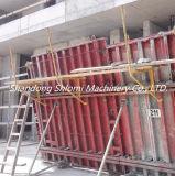 Andamio de acero galvanizado regulable sostén push-pull para encofrado de muro