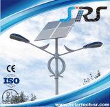 luz de calle solar solar pura del flux luminoso de los 10m poste alta