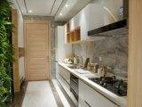Hoog polijst de Lineaire Witte Keukenkast van de Stijl voor de Keukens van het Huis