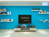 Панель стены пены XPE с тканью 3D Self-Adhesive Wallsticker льна