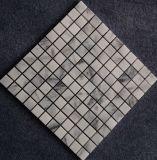 Blanco mármol del mosaico del azulejo baño