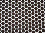 六角形の穴があいた金属板穴があいたプラスチック網の