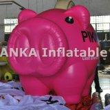 パレードの膨脹可能なカートンのピンクのブタの形の気球球