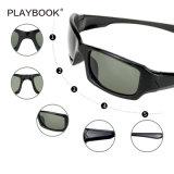 Óculos de sol polarizados dos esportes para as mulheres dos homens que funcionam o frame de ciclagem dos bens do golfe Tr90 da pesca