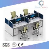 Mobiliário comercial 4 Pessoa Mesa de escritório de madeira de partição (CAS-W31476)